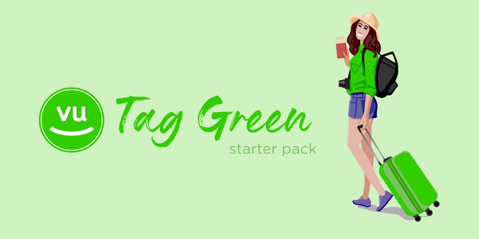 valigia Tag green