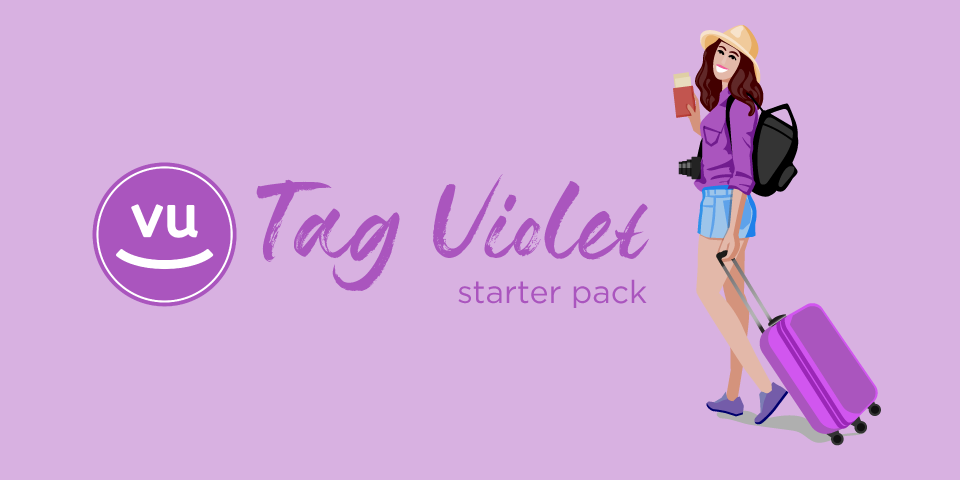 valigia tag violet