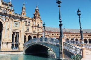 Uno scorcio di Plaza de España a Siviglia, Andalusia